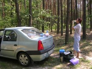 Обед в украинском лесу