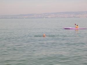 Женевскре озеро напротив Женевы