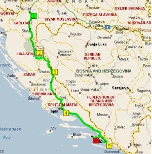 маршрут 3 агуста из Карловаца в Борак