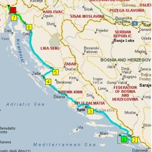 маршрут 17 августа из Борака до границы Словении