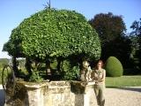 Сад в замке в Рошфор - ан - Терр