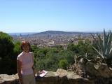 Парк Гюэль, вид на Барселону