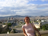 Барселона, вид с горы Мажестик
