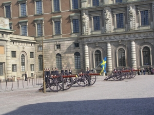 Стокгольм, Королевский дворец, смена караула